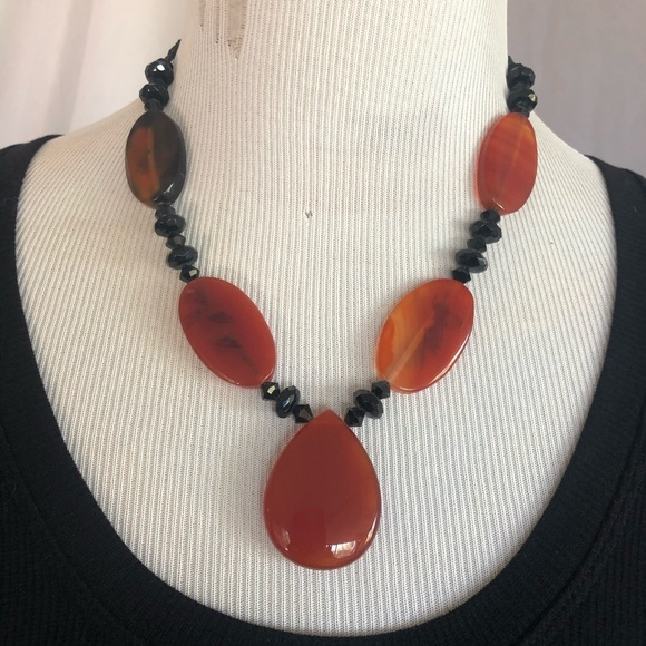 local artist Jewelry - Carnelian necklace handmade NWOT